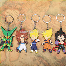 5Pcs Dragon Ball Z Cell Son Goku Vegeta Super Saiyan PVC keychain keyring Set