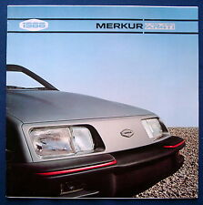 Prospekt brochure 1986 Merkur XR4ti  / Ford Sierra  (USA)