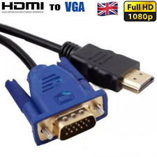 1.8M HDMI Male to VGA Male Video Converter Adapter Cable For DVD 1080P HDTV PC