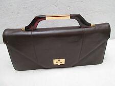 Elégant et original sac à main pochette cuir VINTAGE TBEG bag
