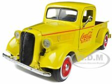 """1937 FORD PICKUP TRUCK YELLOW """"COCA COLA"""" 1/24 BY MOTORCITY CLASSICS 433213"""