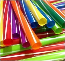 100 X MILKSHAKE MULTI COLORED JUMBO SMOOTHIE DRINKING STRAWS PART 8X240MM