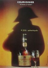 PUBLICITE COURVOISIER COGNAC THE BRANDY OF NAPOLEON VSOP DE 1974 FRENCH AD PUB