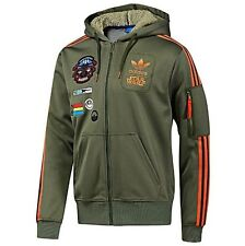 Adidas Originals Star Wars X Wing Hoodie Military Jacket Mens Size Large L