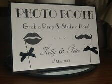 Handmade Personalised Vintage Photo Booth Sign Wedding / Birthday Many colours!