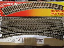 ☆ FLEISCHMANN ☆ 10 x RAILS Courbe R2 36° PROFI ☆ REF 6125 ☆ TRAIN RESEAU HO