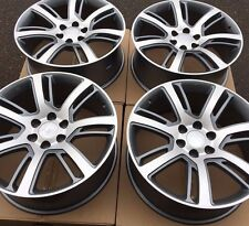 "SET FOUR 22"" GREY MACHIN WHEELS RIMS for CHEVY TAHOE SUBURBAN SILVERADO 1500 NEW"