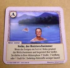 Die Fürsten von Catan - Heiko, der Meisterschwimmer ( Basisset Sonderkarte ) Neu
