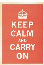 "*Postcard-""Keep Calm and Carry On"" /-Quote-/ (#73)"