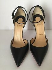 "Christian Louboutin Uptown Ankle Strap Pointy Toe Pump Black Size 6""US 36EU $845"