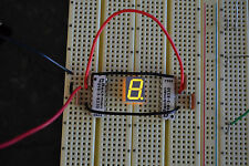 5 pcs 7-Segment LED Display, Breadboard ready, Common Anode. Ships quik frm USA
