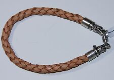 BICO Australia's DRACO Brown Leather BRACELET with Plated Silver Clasp (9')