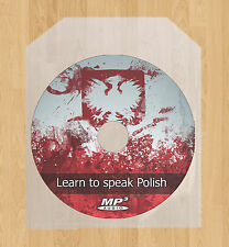 Learn how to speak Polish language lessons course MP3 audio CD tutorial disc