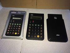 Braun Design Calculator ET 66 control Taschenrechner Rechner Type 4776 rar