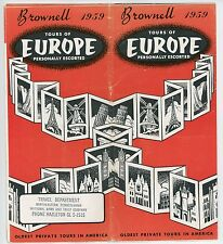 1959 Brownell Tours of Europe Vintage Travel Brochure Vacation Cruise