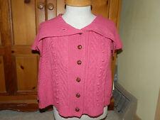 Womens shirt size One Size Hot Pink BCBG Max azria Sweater Poncho Pink Poncho