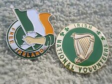 Volunteers & Free Ireland Pin/Badges 2pc Irish Freedom Badges Erin Sinn Fein AOH