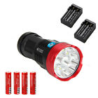 20000Lm SKYRAY Rechargeable 10*CREE XML R8 LED Flashlight Torch Lamp+4x18650+CH
