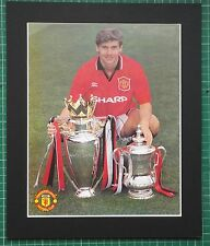 "ANDREI KANCHELSKIS - MANCHESTER UNITED SIGNED COLOUR PHOTO 12"" x 10"" IN MOUNT"
