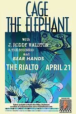 CAGE THE ELEPHANT/J RODDY WALSTON & THE BUSINESS 2014 TUCSON CONCERT TOUR POSTER
