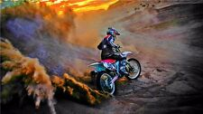 "MOTOCROSS DIRT BIKE JUMP SPORT PHOTO ART PRINT POSTER 24""x13"" 030"