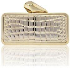 KOTUR Brass Gold iPhone 5 5S Getsmartbag Phone Croc Snake Skin Clutch Minaudiere