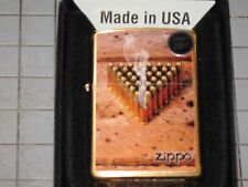 ZIPPO Bullets Smoke Brass Triangle USA LIGHTER windproof Flag NRA American Proud