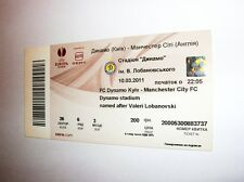 used ticket DYNAMO Kiev - MANCHESTER City 10.03.2011