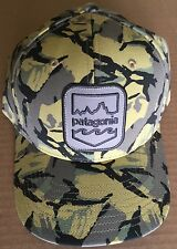 NWT Patagonia Men's Cap Hat Shield Logo Big Camo Classic Tan