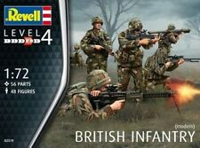 Revell 1/72nd Scale Modern British Infantry Plastic Soldiers Set 2519 New In Box
