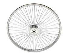 "New 24"" 72 Spoke Hollow Hub Bicycle Tricycle Wheel 14G Chrome"