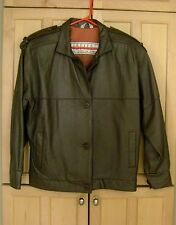 Brown Leather Flight Jacket  Women's Size Small  butter Soft BB Dakota