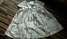 ��BABY GIRLS**NEXT**CAT PRINT COTTON DRESS**6-9 MONTHS**BNWT**FREE DELIVERY**