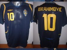 Sweden Umbro Adult Large ZLATAN IBRAHIMOVIC Shirt Jersey Football Soccer PSG Top