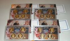 2007 2008 2009 2010 PRESIDENTIAL $1 DOLLAR GEM PROOF SETS WITH BOXES COA'S