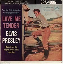 Elvis Presley Hound Dog 45rpm Original 1956   RCA  Love Me Tender RCA EPA-4006