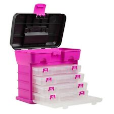 Pink Bin Box Drawer Storage Buttons Craft Organizer Small Items Tools Cabinet