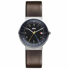Braun BN0142BKBRG Gent's Brown Leather Strap Black Dial GMT Watch