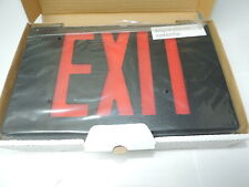 LED Plastic Exit Sign 120V/277V Black Red Letters, 1 or 2 Sided, Dual Circuit