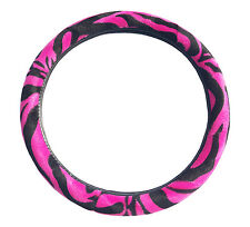 Hot Pink Zebra Pattern Car Steering Wheel Cover Car Suv Sedan