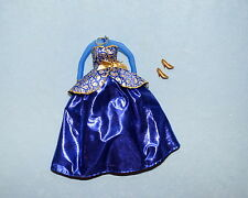 SOPHISTICATED! Sapphire Blue and Gold Gown Dress & Heels Genuine BARBIE Fashion