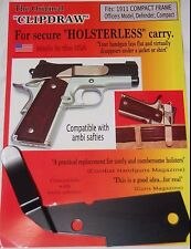 Clipdraw IWB Belt Clip for Compact Colt Model 1911 Concealed Carry Black ROM-B