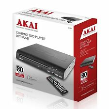 Akai A51002 Compact DVD Player With USB - MultiRegion *NEW* Multi Region