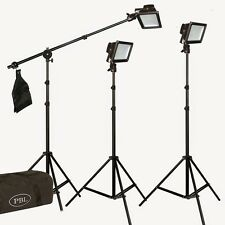 LED 300 Watt Photo Video Light Kit Boom Metal Body Steve Kaeser Photographic