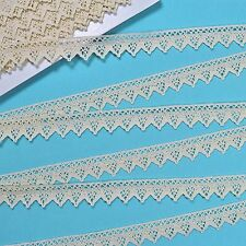 30mm Quality Cream Cotton Clooney Lace Trim, Trimmings