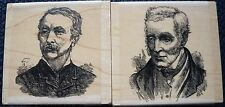 Personal Impressions Vintage Gentleman Rubber Stamps x 2, P1216F, P1217F, New