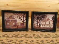 **Primitive Country Rustic Small Framed Pictures - Set of 2!*