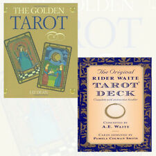 The Original Rider Waite Tarot Deck and The Golden Tarot 2 Books Collection Set