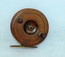 "3.1/2 x 1.1/2""  spine back Nottingham centrepin fishing reel with tilted foot"