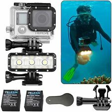 Underwater Waterproof LED Video Diving Spot Light for Gopro Hero 4 3+ 3 2 SJCAM